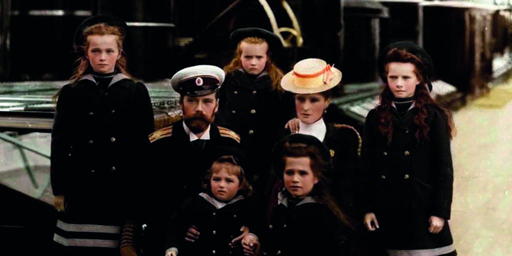 El Zar Nicolas II con su familia a bordo del yate imperial