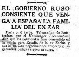 Periodico ABC, 8 agosto de 1918