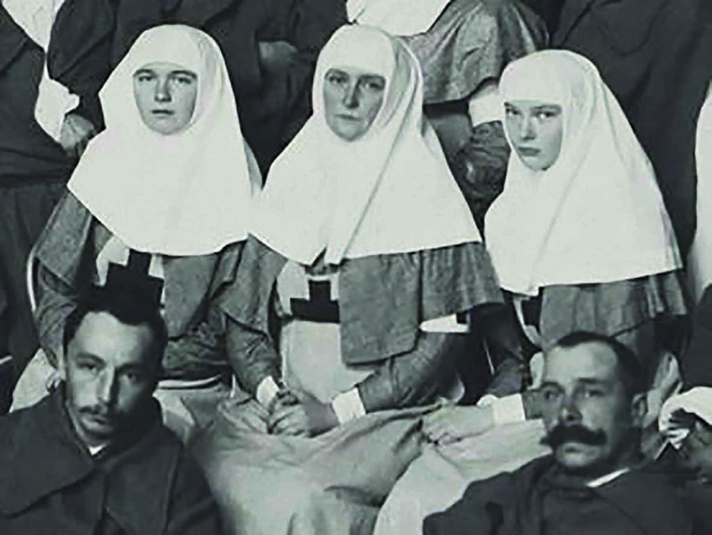 Tsarina e hijas uniformes enfermeras