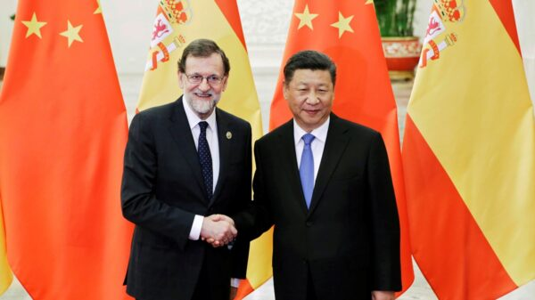 Spanish Prime Minister Mariano Rajoy meets Chinese President Xi Jinping in Beijing