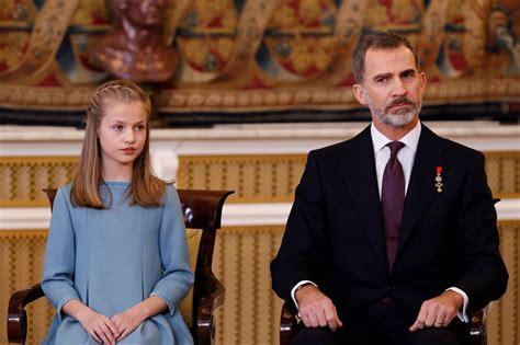 SAR La princesa de Asturias con su padre, el Rey