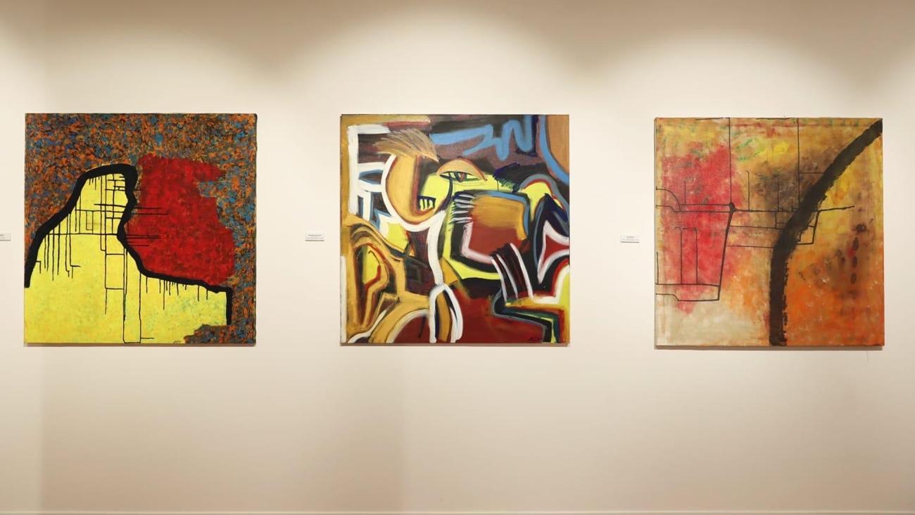 Las obras de Maria teresa Ibañez expuestas en Doha portada